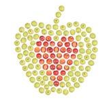 Grande pomme de petites pommes Photo stock
