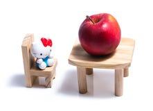 Grande pomme rouge images libres de droits