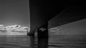 A grande ponte da correia em Dinamarca imagens de stock royalty free