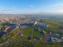 Grande ponte de Hrazdan, Yerevan, Arm?nia imagem de stock royalty free