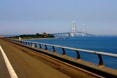 Grande ponte Dinamarca da correia Imagem de Stock