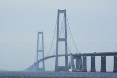 Grande ponte do beltsSuspension imagem de stock royalty free