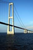 Grande ponte sospeso della fascia della Danimarca Immagini Stock Libere da Diritti