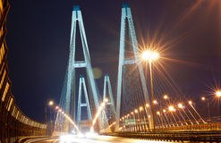 Grande ponte a St Petersburg Immagini Stock Libere da Diritti