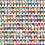 Grande popolazione della gente del gruppo della folla Fotografia Stock