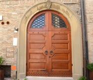 Grande porta italiana fotografie stock
