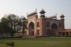 A grande porta a Taj Mahal, India - novembro 2011 Foto de Stock Royalty Free