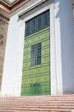 Grande porta verde Fotografia Stock Libera da Diritti