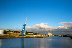 Grande porto in francese Dieppe Fotografia Stock Libera da Diritti
