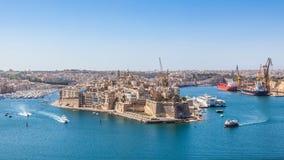 Grande porto, Malta Fotografie Stock Libere da Diritti