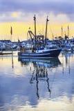 Grande porto Washington State dos cinzas de Westport do barco de pesca fotos de stock royalty free