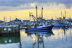 Grande porto Washington State dos cinzas de Westport do barco de pesca fotos de stock