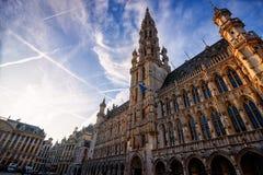Grande posto a Brussel, Belgio Fotografie Stock Libere da Diritti