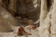 Grande posto da essere la montagna di Al Qarah nella destinazione di viaggio dell'Arabia Saudita Fotografie Stock Libere da Diritti