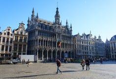 Grande posto Maison du Roi a Bruxelles Fotografie Stock
