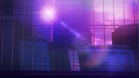 Grande prédio de escritórios na frente de uma janela de vidro panorâmico Imagens de Stock