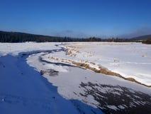 Grande prado de Jizera - louka do jizerska de Velka - Hala Izerska Fotos de Stock