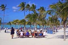 Grande praia do Cay do estribo - Bahamas imagens de stock royalty free