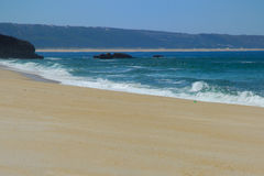 Grande, praia vazia Foto de Stock Royalty Free
