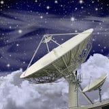Grande prato satélite Fotos de Stock Royalty Free