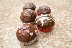 Grande presentazione delicata di cioccolato delizioso Immagini Stock Libere da Diritti