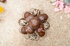 Grande presentazione delicata di cioccolato delizioso Immagine Stock