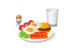 Grande prima colazione del pasto Immagine Stock