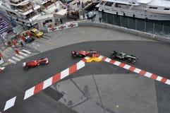 Grande Prix Monaco 2010, gruppo di automobili fotografia stock