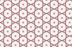 Grande progettazione astratta del modello di esagono rosso e bianco del cerchio illustrazione di stock