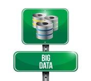 Grande progettazione dell'illustrazione del segno dei server di dati Fotografie Stock Libere da Diritti