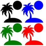 Grande progettazione delle palme per il viaggio e la vacanza Immagine Stock