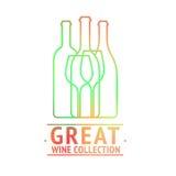 Grande progettazione di logo della raccolta del vino illustrazione di stock