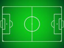 Grande projeto da forma do campo de futebol Imagem de Stock
