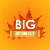 Grande promotion de vecteur d'affiche de vente d'automne Photos stock