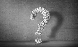 Grande punto interrogativo, rappresentazione 3d Immagini Stock