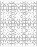 Grande puzzle bianco Fotografia Stock Libera da Diritti