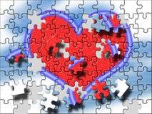Grande puzzle del cuore Fotografie Stock Libere da Diritti