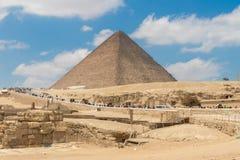 Grande pyramide de Khufu ou la pyramide de Cheops en Egypte image stock