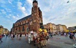 Grande quadrato a Cracovia immagine stock