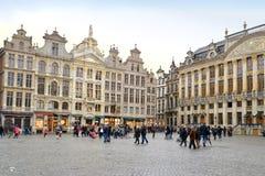 Grande quadrato del palazzo, Bruxelles fotografie stock libere da diritti