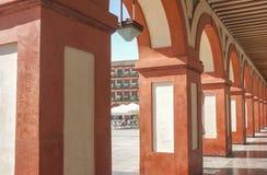 Grande quadrato del XVII secolo di Corredera, Cordova, Spagna fotografia stock