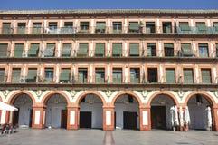 Grande quadrato del XVII secolo di Corredera, Cordova, Spagna fotografia stock libera da diritti
