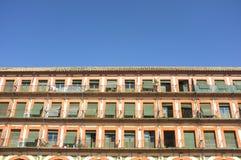 Grande quadrato del XVII secolo di Corredera, Cordova, Spagna immagini stock libere da diritti