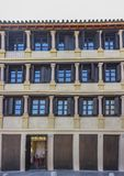 Grande quadrato del XVII secolo di Corredera, Cordova, Spagna fotografie stock