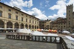Grande quadrato o vasari Arezzo Italia toscana Europa Immagini Stock Libere da Diritti