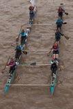 A grande raça do rio, barcos na Tamisa. Imagens de Stock