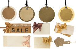 Grande raccolta dei prezzi da pagare, delle etichette e delle note in bianco Immagine Stock