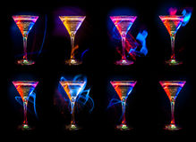 Grande raccolta del cocktail Immagini Stock