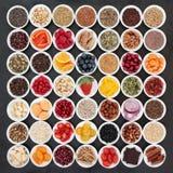 Grande raccolta dell'alimento salutare Fotografie Stock Libere da Diritti