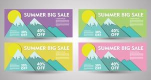 Grande raccolta dell'insegna di vendita di estate EPS10 royalty illustrazione gratis